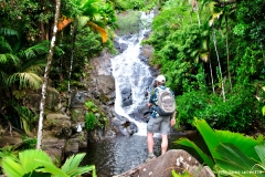 Wasserfall in Port Glaud auf Mahé (Seychellen)