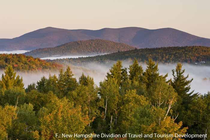 Morgenstimmung im Milan Hill State Park, New Hampshire