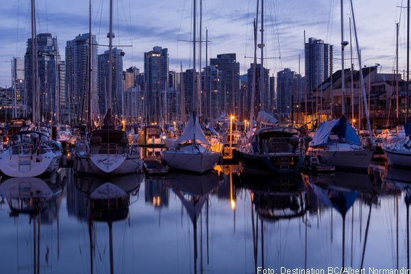 Der Hafen in Downtown Vancouver