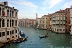 Weltberühmt: der Canal Grande ist der breiteste Kanal in Venedig