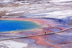 Blick auf Grand Prismatic Spring (Yellowstone) Foto: M. Storey/nps.gov