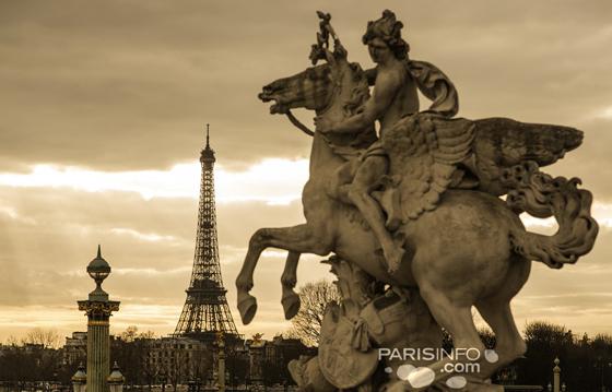 Place de la Concorde und Eiffelturm