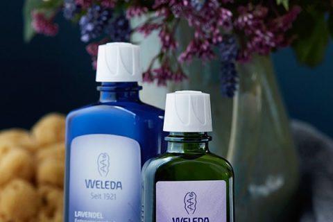 Duftendes Duo: Lavendel-Bad und -öl von Weleda