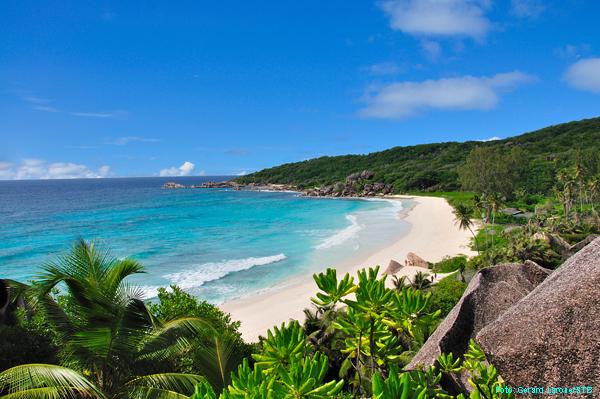 Grand Anse auf La Digue (Seychellen)