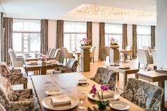 """Blick ins Restaurant """"Meierei"""" im Vitalhotel Alter Meierhof Foto: PR"""
