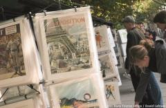 Auch Zeichnungen gibt es bei den Bouquinisten zu kaufen