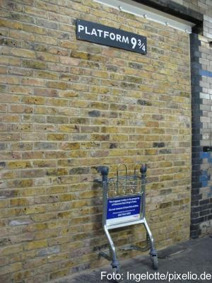 Legendär: Gleis 9 3/4 im Bahnhof King's Cross