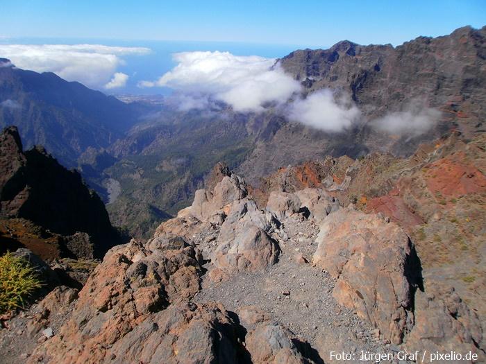Wilde Landschaft am Roque de los Muchachos