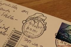 Sehr begehrt: der Poststempel vom Polarkreis in Rovaniemi