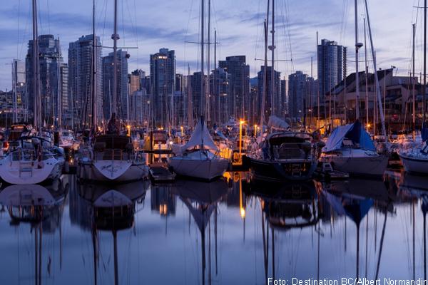 Der Hafen in Downtown Vancouver