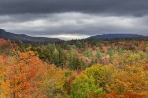 Indian Summer am Kancamagus Highway in New Hampshire